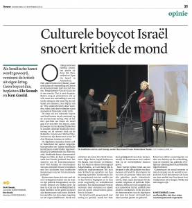 Artikel in Trouw, 25092014, jpg